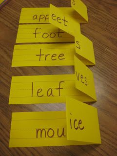 Posting Plurals!  SUPPLIES: paper, marker, & list of nouns ::: Create an interactive cards that will help your Little learn plural nouns.