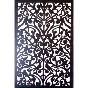 1/4 in. x 32 in. x 48 in. Black Ginger Dove Vinyl Decor Panel-3248PVCBK-GNDV at The Home Depot