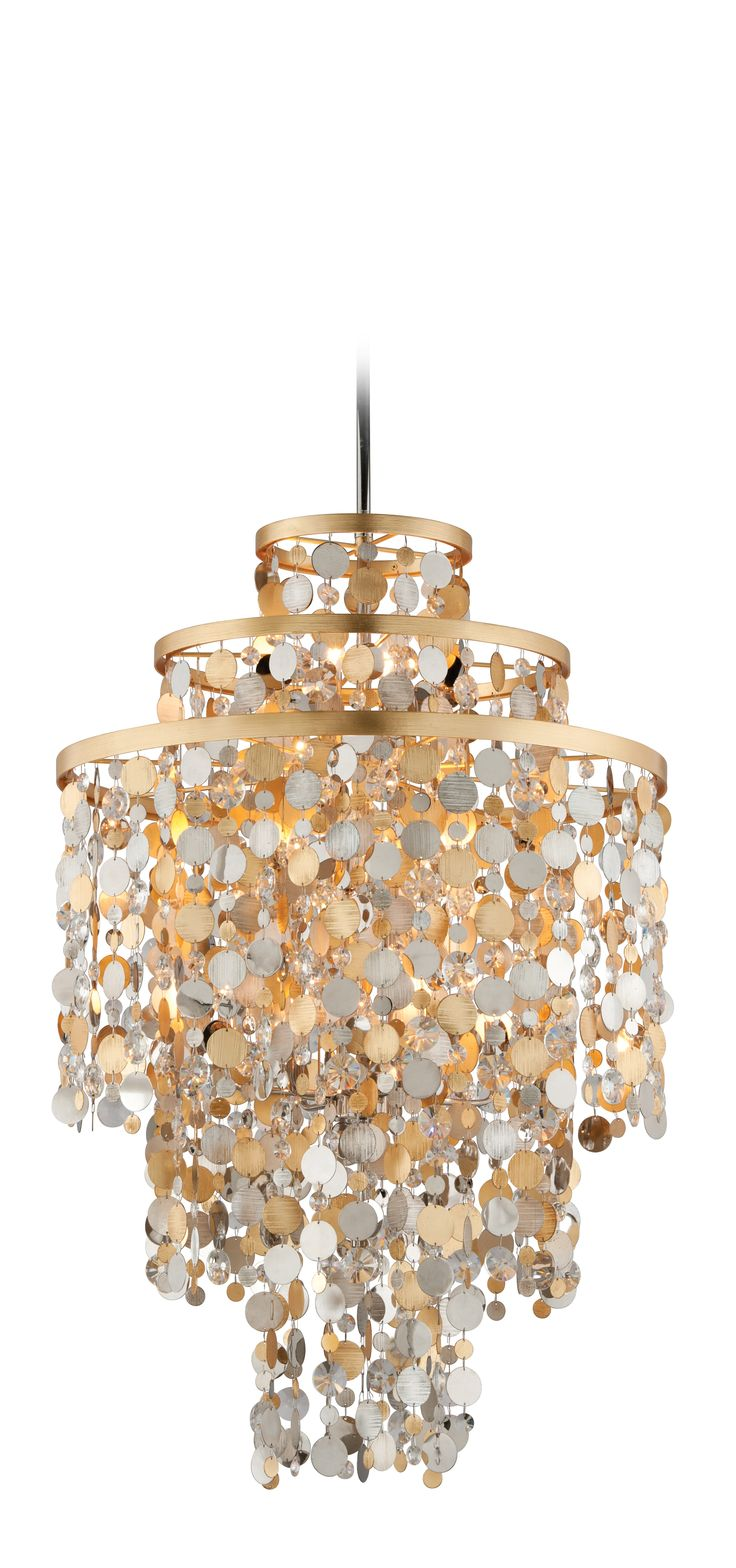 Clear glass modern murano chandelier l16k white lamp shades - Ambrosia By Corbett Lighting We Love How Festive And Flirty This Lighting Design Is