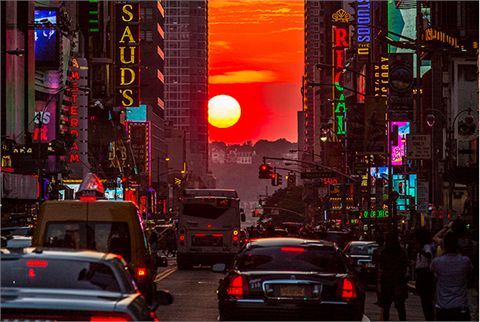 tramonto a new york