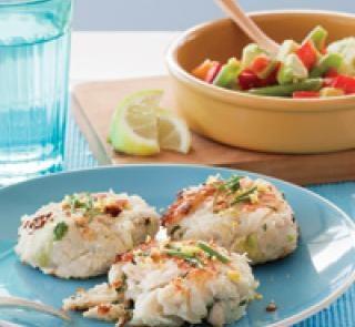Chicken potato patties with bean and avocado salad | Australian Healthy Food Guide