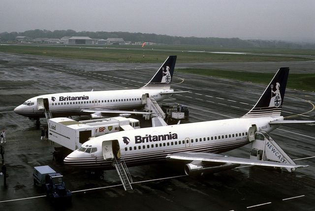 Boeing 737 21335: Boeing 737-204 G-BECG Britannia Airways Newcastle Airport by emdjt42, via Flickr