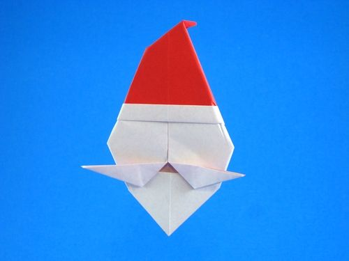 56 best origami images on pinterest christmas crafts for Make origami santa claus