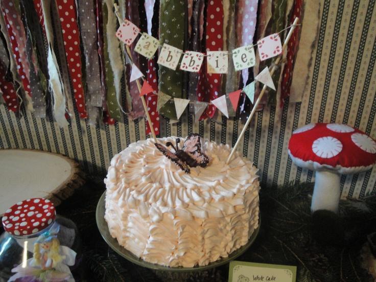 Woodland fairy cake banner