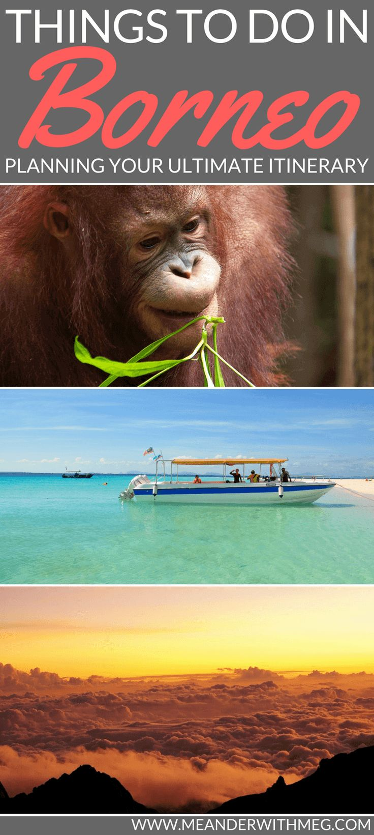 Planning a trip to Borneo? Malaysia is a wonderful destination where you can see orangutans, island hop, climb Mount Batur and sample a huge array of cuisine.   Things to do in Borneo   Borneo itinerary   Backpacking Malaysia   Solo travel   Travel planning