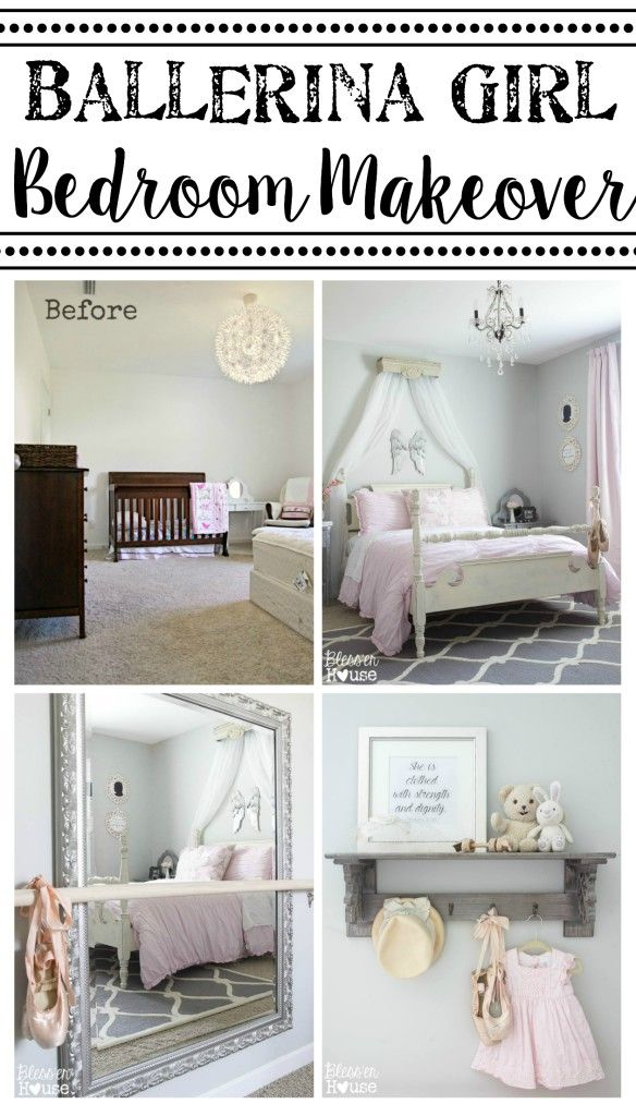 Ballerina Girl Bedroom Makeover Reveal   Bless'er House - Such a sweet space on a tight budget!