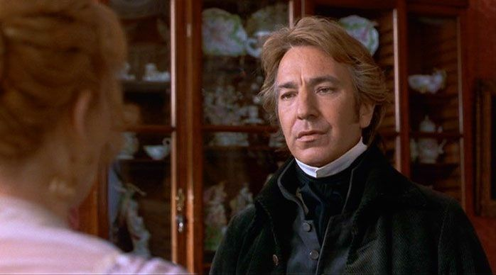 """""""To your sister I wish every imaginable happiness.  As for Mr. Willoughby, may he endeavor to deserve her."""" - Alan Rickman as Col. Brandon in Sense and Sensibility"""