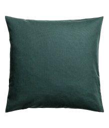 Cotton Canvas Cushion Cover | Dark green | H&M HOME | H&M US