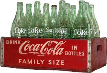 Coke in bottles (I used to collect discarded bottles to return to the store for $$ to buy penny candy)