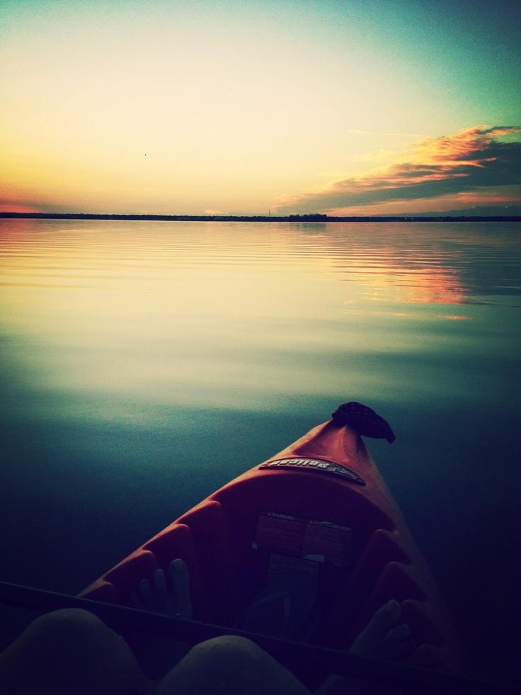 Sunrise kayaking.  Dunedin, Florida
