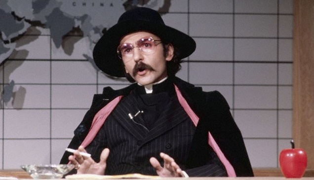 """Don Novello as Father Guido Sarducci on """"Saturday Night Live,"""" one of our favorite fictional clerics on TV. (Courtesy photo)"""