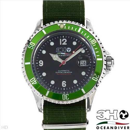 $119.00  3 H ITALIA OCEANDIVER Collection Made in Italy Brand New Gentlemens Date Automatic Watch