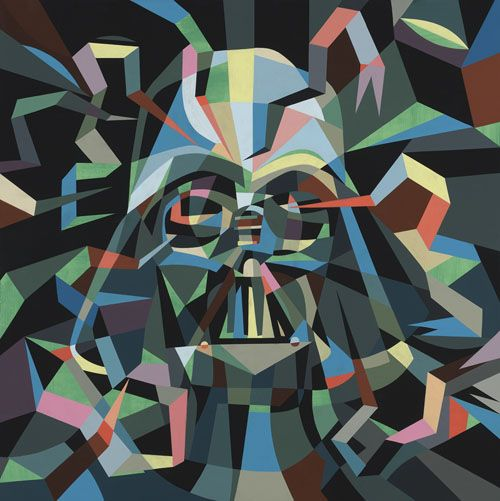 Darth Fener di Tim Biskup: Darth Vader, Lowbrow Art, Biskup Artlov, Death Stars, Stars War Art, Tim Biskup, Colorforward 008, Dark Side, Stars War Pop Art