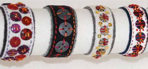 Sy knapparmband - make button bracelets - pattern in swedish