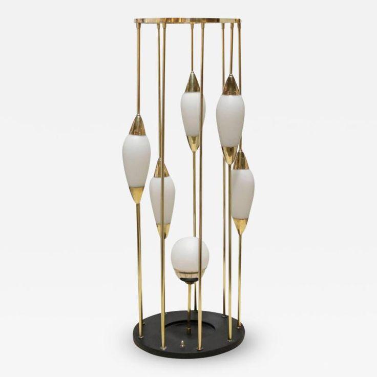 Gaetano Sciolari Unusual Table Lamp Attributed to Stilnovo