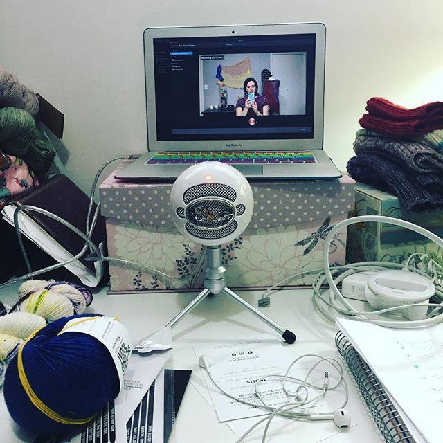Hello!!!! I am finally recording an new episode! #fairylittle #fairylittlepodcast #knittingpodcast #knitting