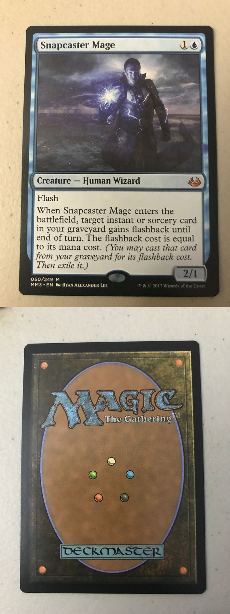 MTG Individual Cards 38292: **Mtg Modern Masters Snapcaster Mage 2017 - Nm M** -> BUY IT NOW ONLY: $46 on eBay!