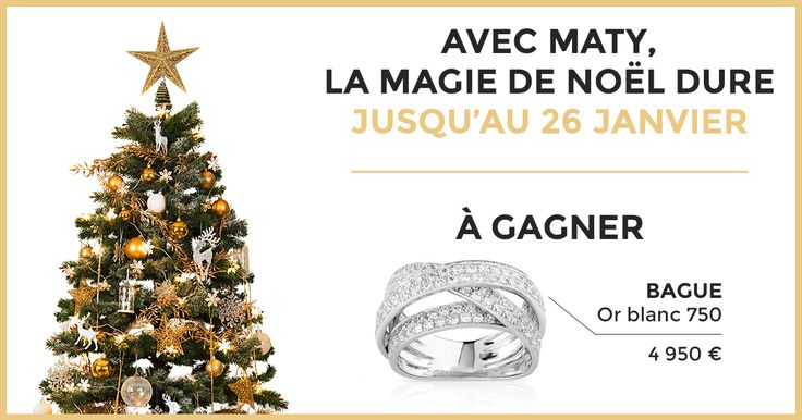 Plus on est, plus ça brille : venez aussi tenter de remporter une bague en or blanc d'une valeur de 4 950 € !