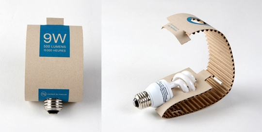 Sustainable lamp-packaging