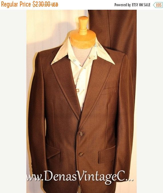 Vintage suits from the 40s through 70s. Mod Suits, Leisure Suits, Disco Suits and more.