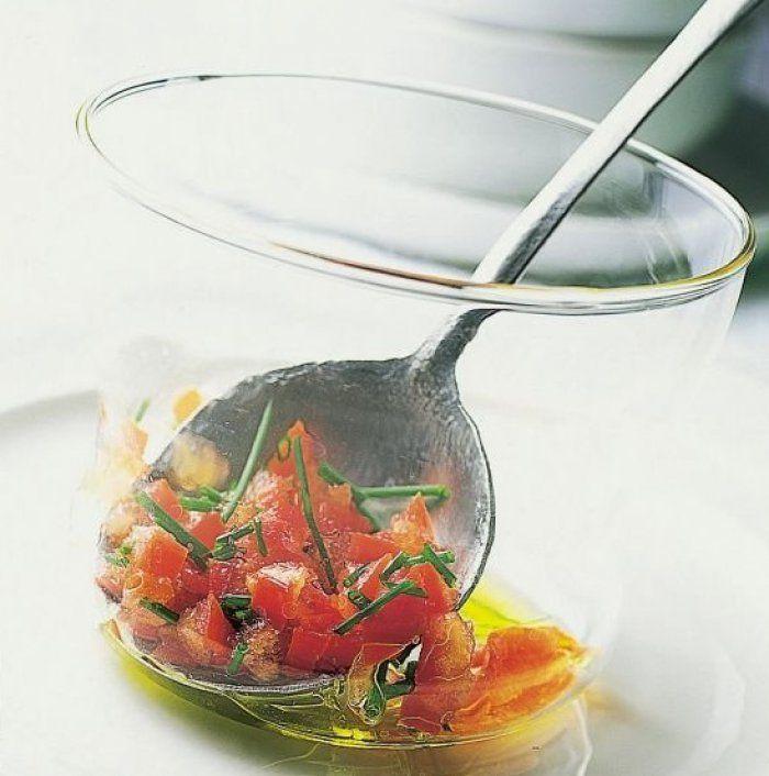 Concassée de tomates à la ciboulette ciselée