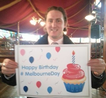 Melbourne Day committee member Stephen Roux. #MelbourneDay
