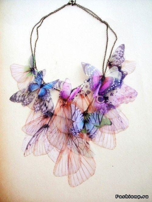 organza necklace / Butterflies
