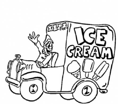 Ice Cream Truck Coloring Pages