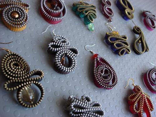 earrings, orecchini lampo