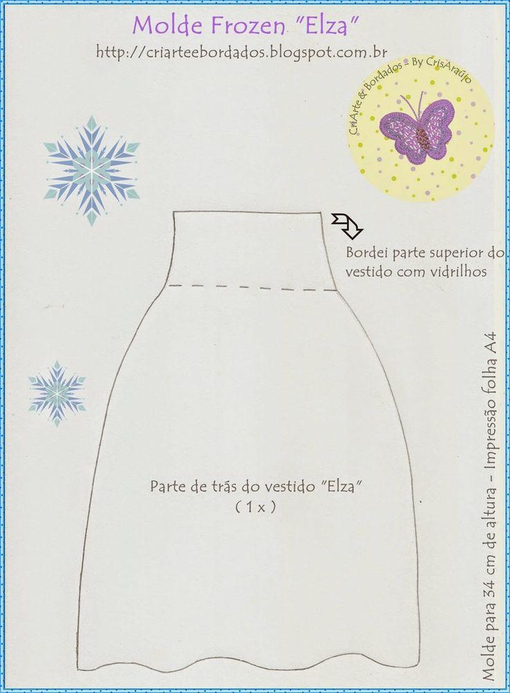 CriArte & Bordados: Molde Frozen feltro