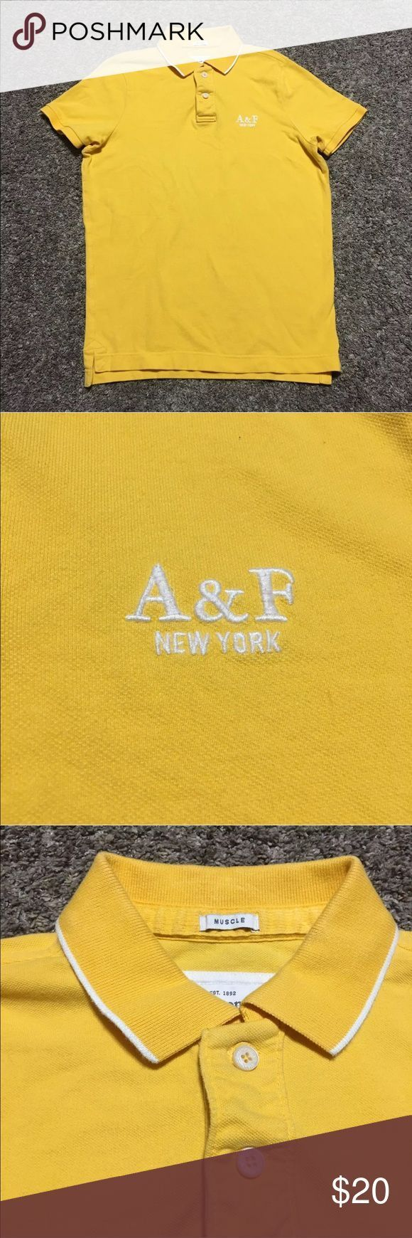 Abercrombie & Fitch Muscle A&F New York Shirt MEASUREMENTS(in inches, taken wh…