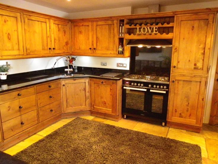 Hand carved oak kitchen