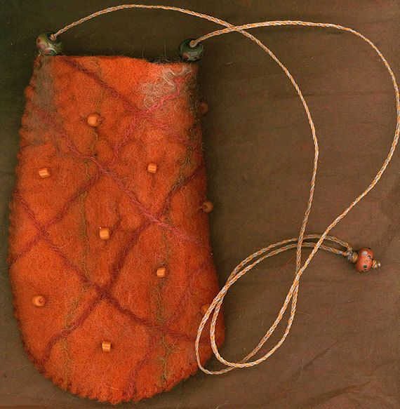 AlmaAta wet felted bag ♡ by ThistleWoolworks on Etsy