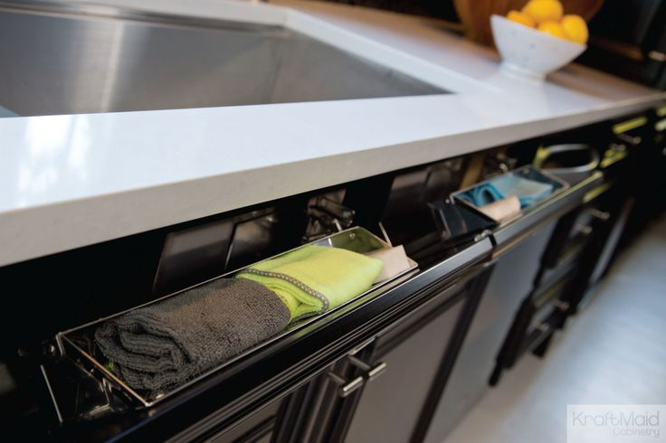 Use That Wasted Storage Area Under The Sink For Scrubbers And Sponges With Kraftmaid S Tilt