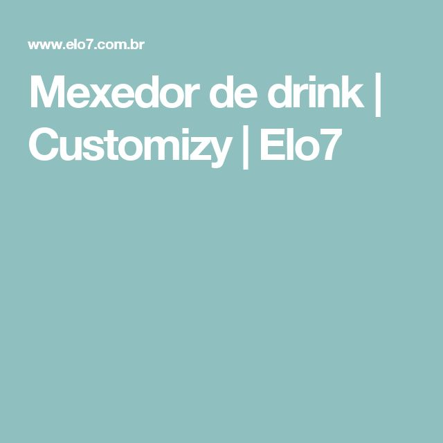 Mexedor de drink | Customizy | Elo7