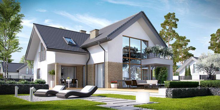 Projekt domu CPT KONCEPT-8 - DOM CP1-08 - gotowy projekt domu