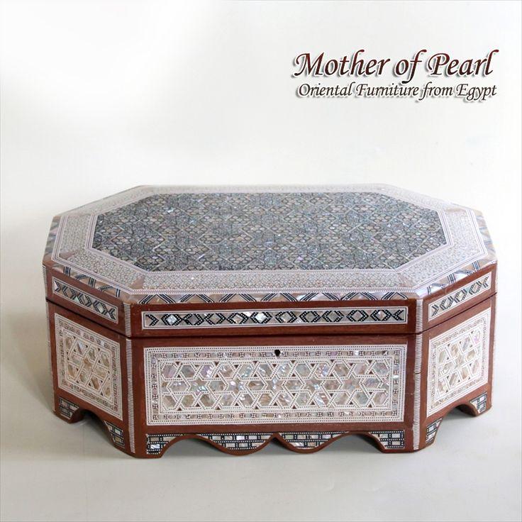 【楽天市場】エジプト螺鈿の家具 Mother of Pearl ジュエリーボックス 伝統工芸36x22.5x9.5(下段6.5):ガラタバザール(キリム&雑貨)