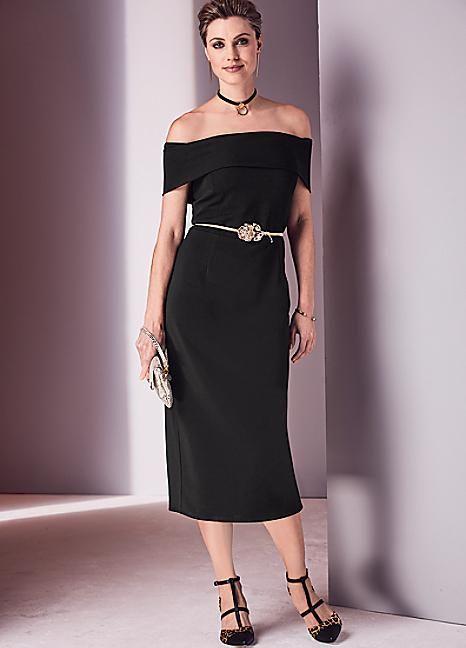 Bardot Ottoman Dress