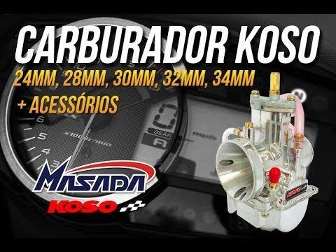 Carburador Competição Pj 34mm C/ Power Jet - Koso Espelho - Masada Moto Peças