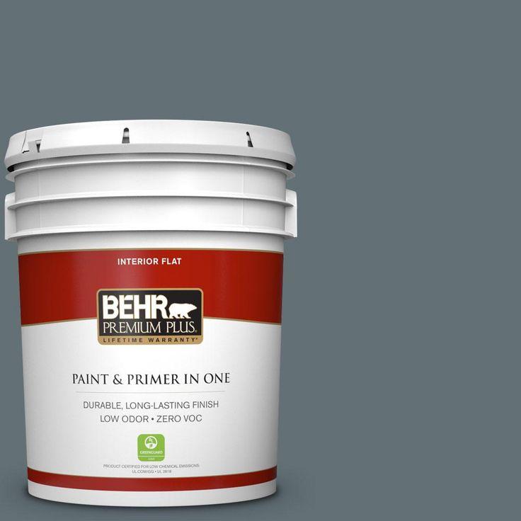 BEHR Premium Plus 5 gal. #ecc-22-3 Rain Shadow Zero VOC Flat Interior Paint