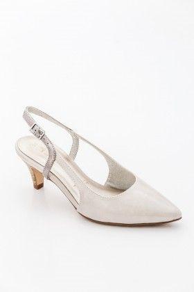 Fehér Tamaris Női Magassarkú cipő