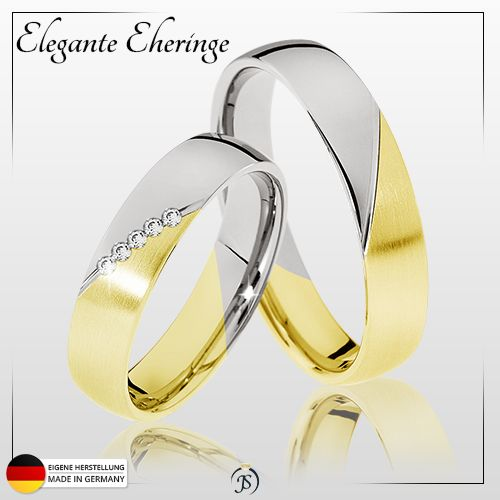 Angebot: Die Eheringe Mainz   5 x 0,01 Karat Brillanten  ab 333er Gold  Bereits ab 455,-€ / Paarpreis  inkl. Versand ▪ inkl. Ring-Etui ▪ inkl. Gravur
