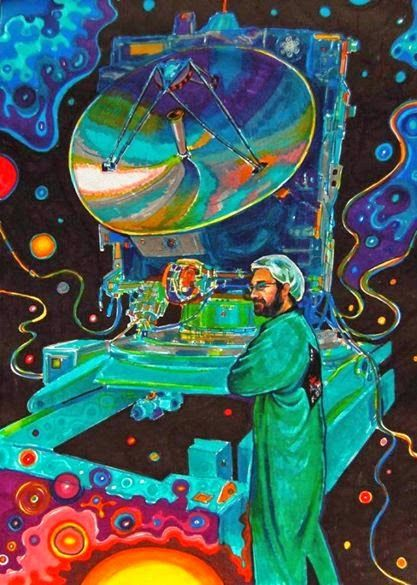 """"""" Space Surgeon and Rosetta """" - markers on paper"""