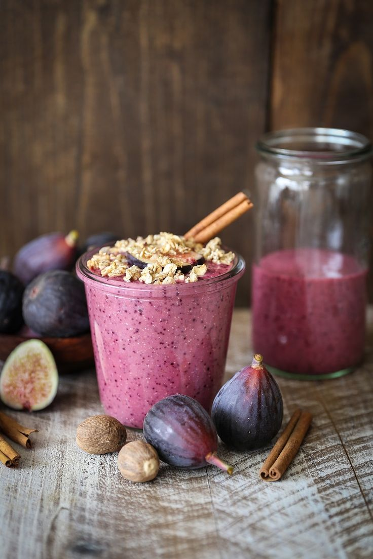 Thick, creamy, sweet fall smoothie with beets, oats, figs, almond butter, and oats for a cozy, balanced beverage that will keep you full for hours. Oh hey you, There's something I've been wanting t…