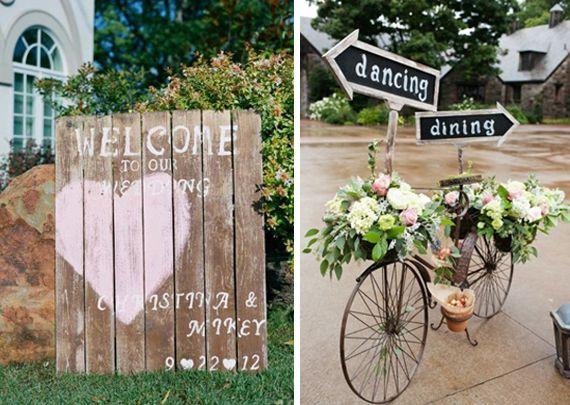 Ce c t champ tre donne beaucoup de charme au mariage mariage c c pin - Deco de charme en ligne ...
