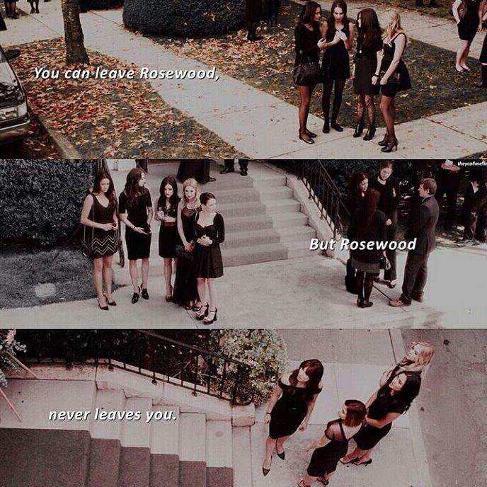 Alison's funeral, Detective Wilden's funeral, and Charlotte's funeral.