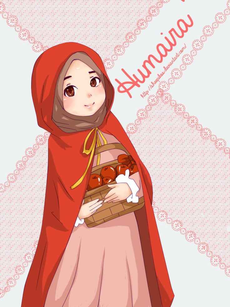 Red Riding Hood Muslimah version! Named her Humaira', suitable for her role. :3