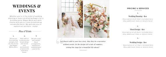 Florist Tri Fold Brochure Template 5x5 Business Marketing