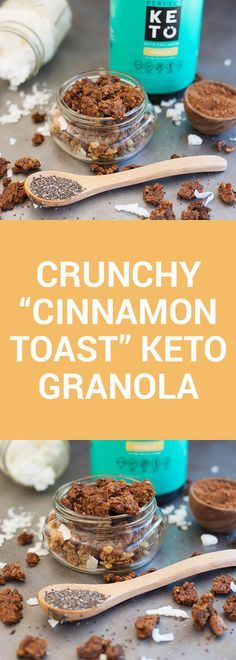 Make a huge batch of this cinnamony keto granola thats packed with nutrients fla…
