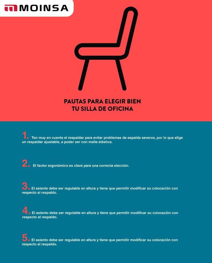 La elección de tu silla de oficina es más importante de lo que imaginas. En MOINSA te ofrecemos estas pautas con las que acertarás seguro.